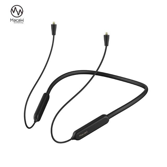 Bluetooth 5.0 Aptx/ aptx ll כבל mmcx A2DC 2PIN 0.78 IE80 IE40 IM עמיד למים אלחוטי Bluetooth אוזניות כבל עבור SHURE SE215