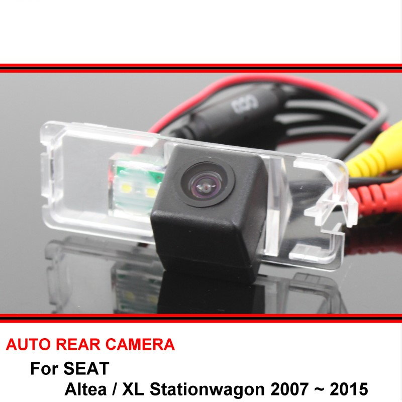 For SEAT Altea / XL Stationwagon 2007 ~ 2015 Night Vision Rear View Camera Reversing Camera Car Back Up Camera HD CCD