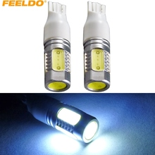 FEELDO 2 Stks Wit Power T15 7.5 W 5 LED 5SMD Auto LED Bulb Backup Lamp Side Licht Deur licht # FD-3274(China)