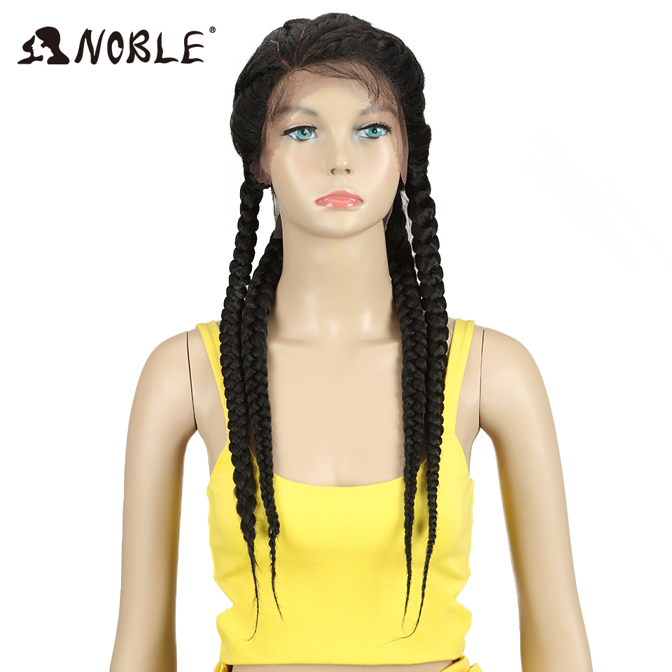Noble Synthetic Lace Front Wig 1b Color Baby Hair 26 African American Hair Synthetic Lace Front