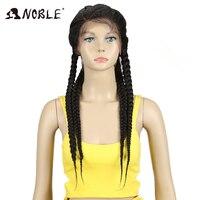 Благородный синтетический парик фронта шнурка 1b # цвет детские волосы 26 афро американские волосы синтетические кружева фронта коробка кос