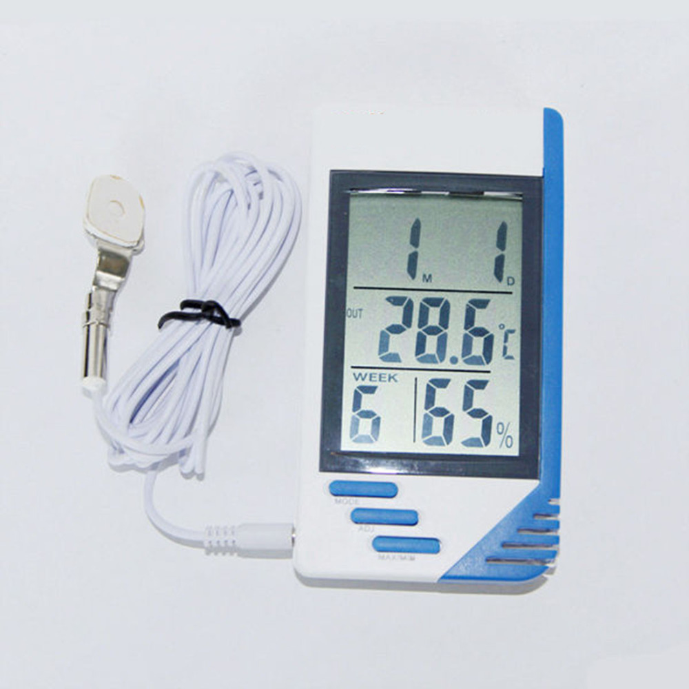 3in1 digital lcd indoor outdoor thermometer temperature humidity hygrometer meter gauge c f in. Black Bedroom Furniture Sets. Home Design Ideas