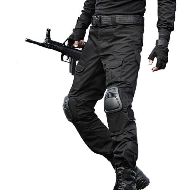 Aspirante Militare Tattico Pantaloni Da Uomo Camouflage Pantalon Rana Cargo Pantaloni Al Ginocchio Pantaloni Da Lavoro Esercito Hunter Swat Combattimento Pantaloni Facile Da Lubrificare