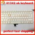 A1342 UK keyboard for macbook 13.3'' white A1342 unibody 2009 2010year UK English British layout united kingdom