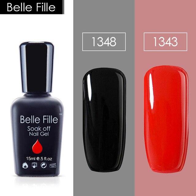 Aliexpress.com : Buy Belle Fille 2PCS 15ml Khaki Black Red Nude ...