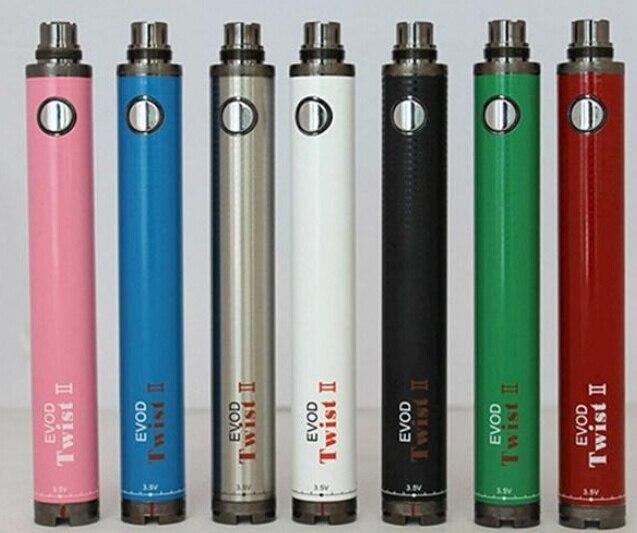 Evod Torsion II Batterie Cigarette Électronique 3.3 ~ 4.8 v Tension Variable eVod Batterie 1600 mah pour CE4 CE5 Ego 510 Atomiseurs Vaporisateur Stylo