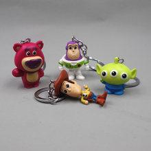 Llavero figura de acción de Stranger Thing 4 unids/set, muñeco de Woody Buzz Lightyear de PVC, juguetes para niños, regalo, novedad