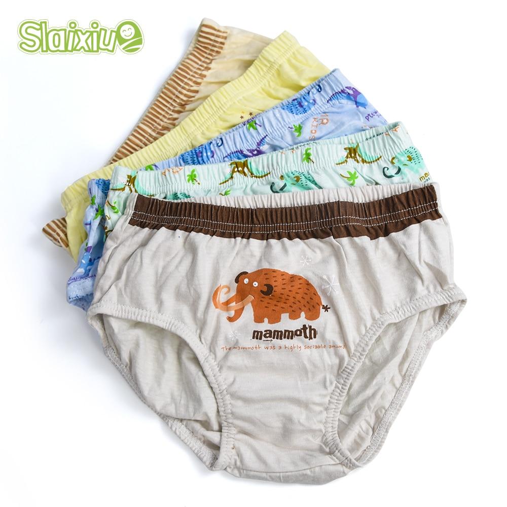5 Pcs/lot Cotton Kid Boys Pants Underware Cartoon Animal Baby Shorts Panties Boxer Underpants Briefs Children's Underwear 2-8 Y