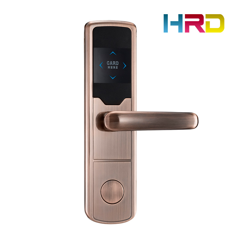 China manufacturer hotel door lock system access control RFID T5577 / S50 card electronic lock for hotel hotel card door lock access control keyless door lock rfid hotel lock