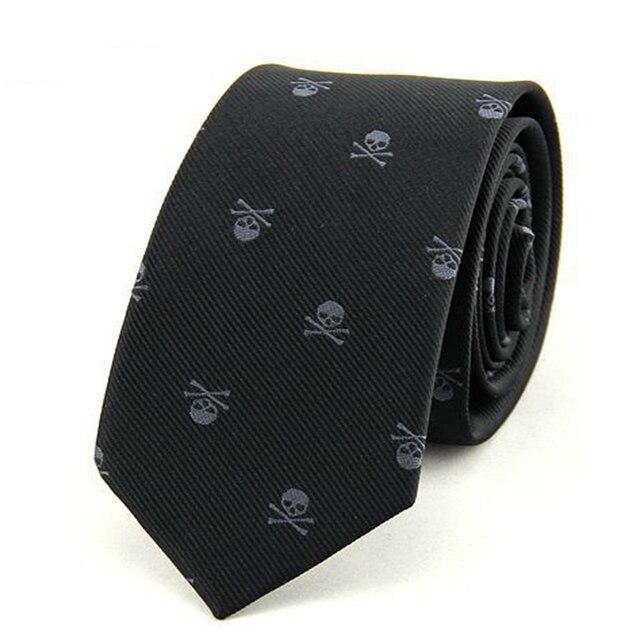 Skull Print Tie