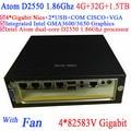 supermicro mini server with fan Intel Atom D2550 1.86Ghz CPU 4*82583V Gigabit LAN Wake on LAN Watchdog 4G RAM 32G SSD 1.5TB HDD