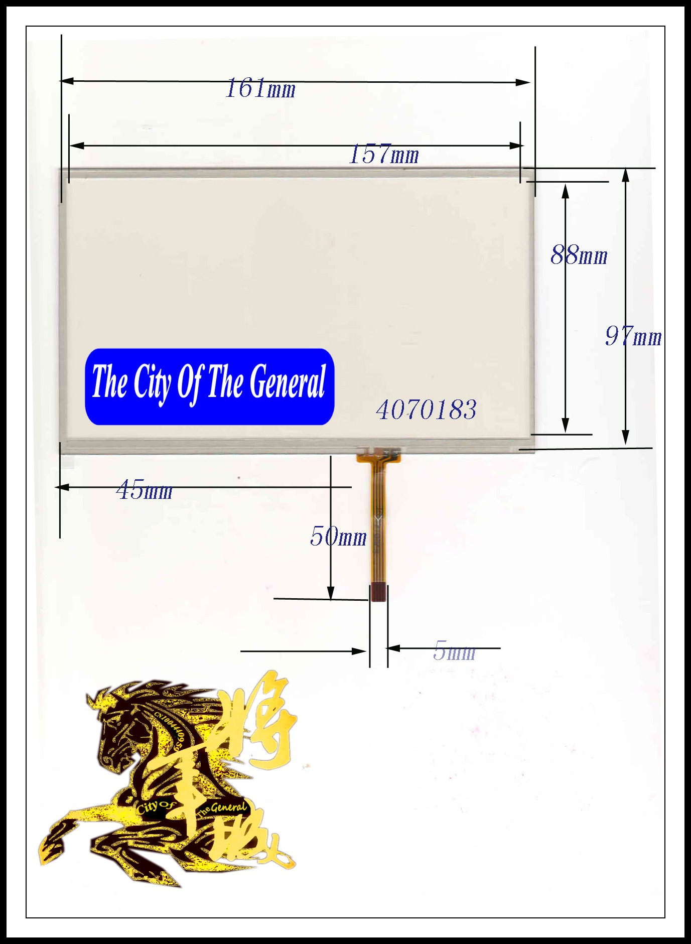 GENCTY For 7-inch four-wire resistive touch screen 161 * 97MM W-X