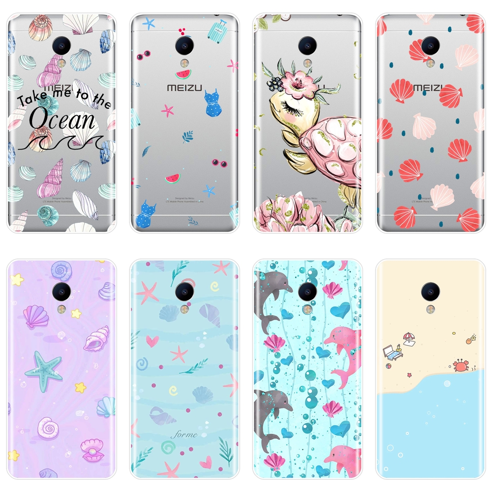 Phone Case For <font><b>Meizu</b></font> M2 M3 M5 M6 Note Soft Silicone Turtle Ocean Sea Animal <font><b>Back</b></font> <font><b>Cover</b></font> For <font><b>Meizu</b></font> M6 M6S M6T M5 M5C M5S M3 <font><b>M3S</b></font> M2 image