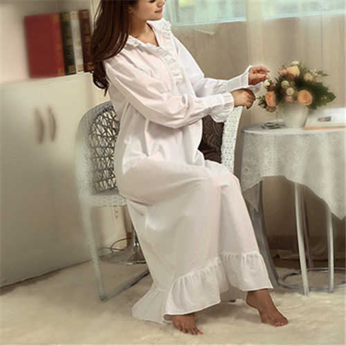 Anne Hathaway Sleep Lounge Women Sleepwear Cotton Solid White Long Maxi Nightgowns Sexy Home Dress Nightdress Plus Size