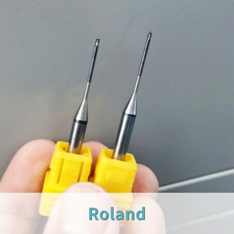 3 pieces roland dwx50 milling bur dwx51/dwx52 machine burs 0.6mm/1.0mm/2.0mm