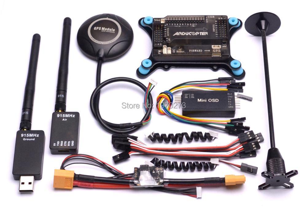 APM2.6 APM 2,6 controlador de vuelo M8N GPS soporte Mini módulo de potencia OSD 433 Mhz/915 Mhz telemetría para 450mm 500mm Quad-in Partes y accesorios from Juguetes y pasatiempos    1