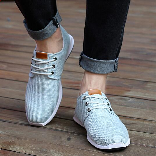 2016 New Spring Summer Men Canvas Shoes Trend Lace Up