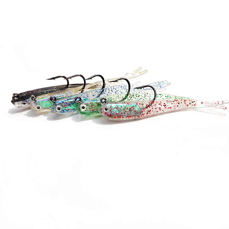 1 piezas de señuelo de pesca Shad Swimbait de la cabeza de la plantilla de señuelo de pesca cebo de pescado de plomo