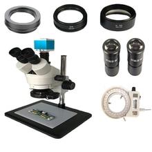 7-45X 3,5-90X Продолжить Зум Тринокулярный стереомикроскоп + 16MP HDMI USB TF карта с ИК-цифровой, с дистанционным управлением промышленная камера