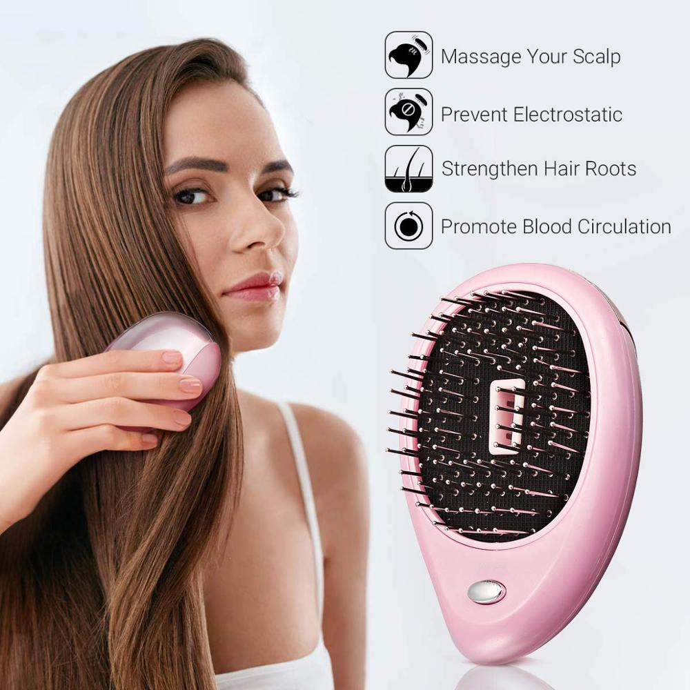 Ionic Comb Portable Hair Brush Anti-static Massage Negative Ion Comb Mini Hair Straightener Comb Magic Hairbrush Styling Comb