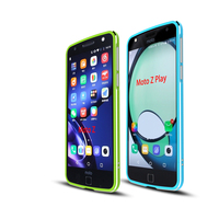 Dual Colors Luxury Slim Aluminum Metal Bumper For Motorola Moto Z Play Moto Z Glossy Frame