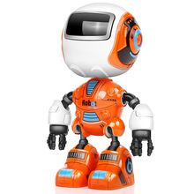 Rc Robot Toy For Children Alloy Action Figures Educational Toys Mini Intelligent Yelllow Model Music Kid Cute Toy Robot Humanoid diy robot 17dof biped robotic educational robot humanoid kit servo bracket educational toy f17326