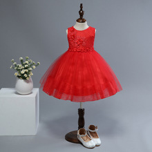 2019 Baby Girl Princess Dress for Wedding Party Kids Summer Dresses for Toddler Girl Children Fashion Appliques Floral Clothing toddler girl floral dress ladybird pattern print little girl fashion a line summer dress children spring fall princess clothing