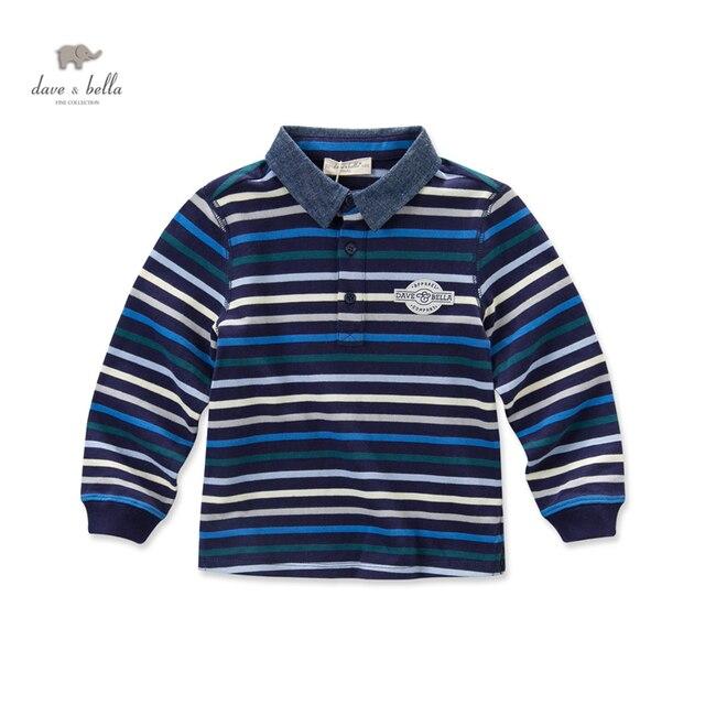 DK0509 дэйв белла осень мальчиков темно полосатые футболки мальчиков топ дети тройники