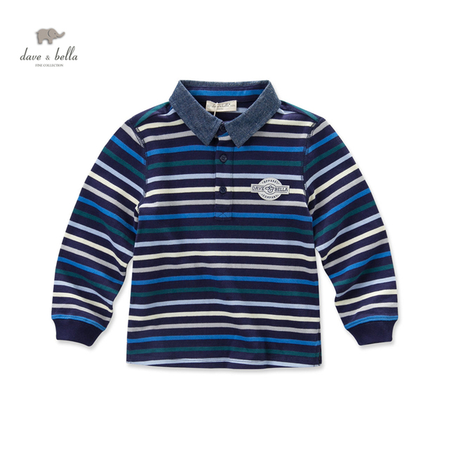 DK0509  dave bella autumn baby boys navy striped t-shirt boys top kids tees