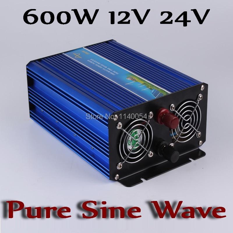 600W Off Grid Inverter 12V 24V, 100/110/120VAC or 220/230/240VAC Pure Sine Wave Output Solar Wind System Power Inverter 2500w 12v 110vdc 100 110 120vac or 220 230 240vac pure sine wave pv inverter off grid solar