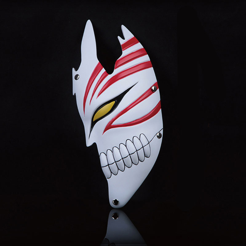 Half Face Halloween PVC God of Death Bleach Dance Ghost Mask Cosplay Scary Adult Fancy Costume Party Masquerade Halloween Props