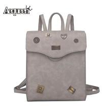 Aequeen женские рюкзаки кожи для девочек школьная сумка женская сумки рюкзаки дамы ноутбук подростков назад дорожная сумка