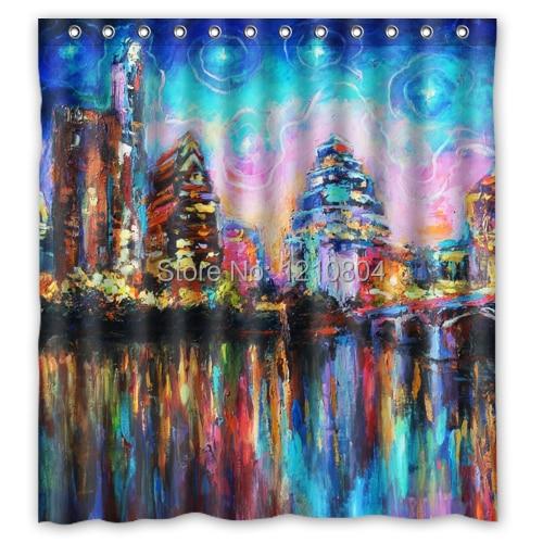 Curtains Ideas cityscape shower curtain : Online Buy Wholesale cityscape shower curtain from China cityscape ...