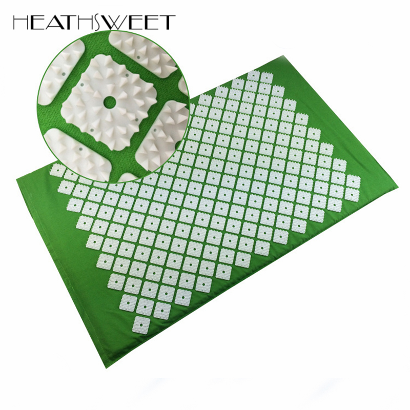 Healthsweet Back Massage Relieve Stress Pain Relief Acupuncture Massager Cushion for Shakti Acupressure Yoga Body Massage Mat free shipping massager body massage cushion back neck care acupressure shiatsu massager relieve pain physiotherapy equipment