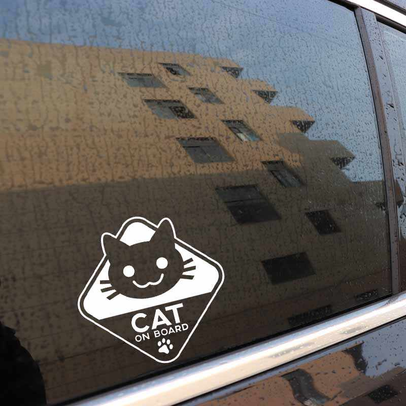 Earlfamily 15cm X Funny Vinyl Sticker Car Decal Cat On Board Auto Door Windows Trunk Stickers Graphic Styling