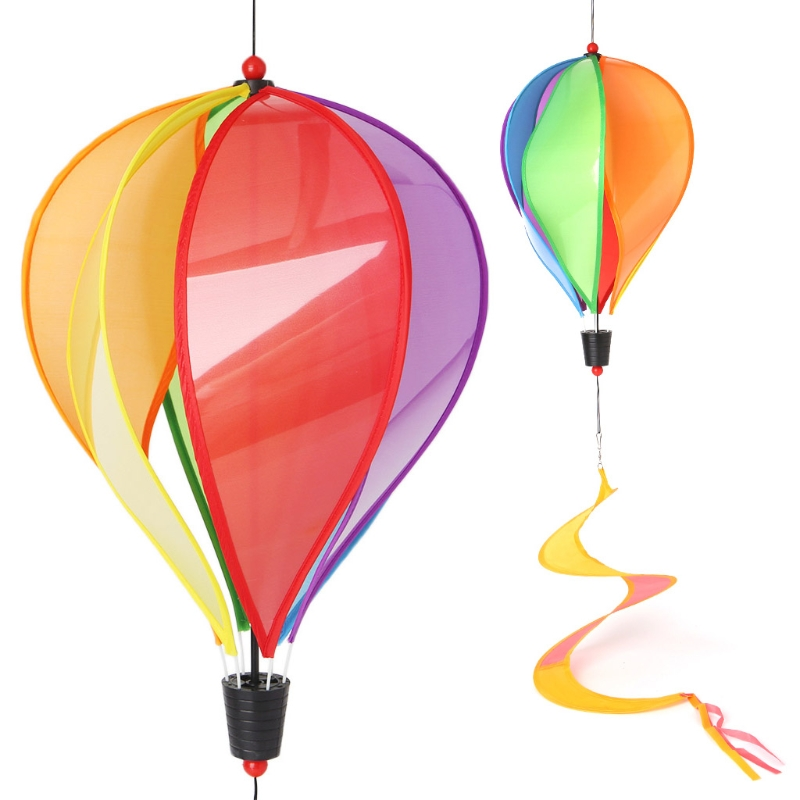 Balloon Windmill Toys Children Spiral Garden Ornaments Colorful Outdoors Spinner