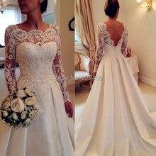 فستان زفاف طويل من wuzhiyi موضة 2018 فستان زفاف أنيق مطرز بالخرز مناسب لفساتين الزفاف