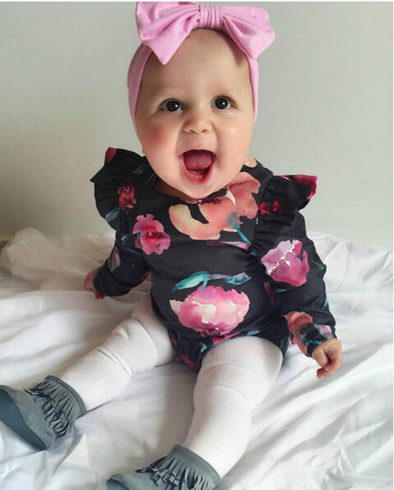 Pudcoco Floral Baby Girls Long Sleeve Romper Newborn Cute Baby Girls Infant Princess Romper Jumpsuit Zip Body suit Outfit 0-24M newborn toddler infant baby girls floral clothing zipper cute romper jumpsuit long sleeve outfit clothes