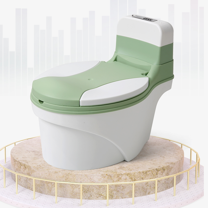 New Children Kids Baby Plastic Toilet Training Simulation Potty Chair With Cover For Free Potty Brush+cleaning Bag