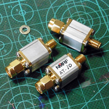 цена на Free shipping AT-10 SMA coaxial fixed attenuator / RF attenuator / power 0.5W/10dB/ attenuator DC~1GHz