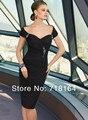 Сексуальная спинки короткие черный шифон оболочка стиль вечернее платье 2017 новая мода женщин custom особый случай износа платье