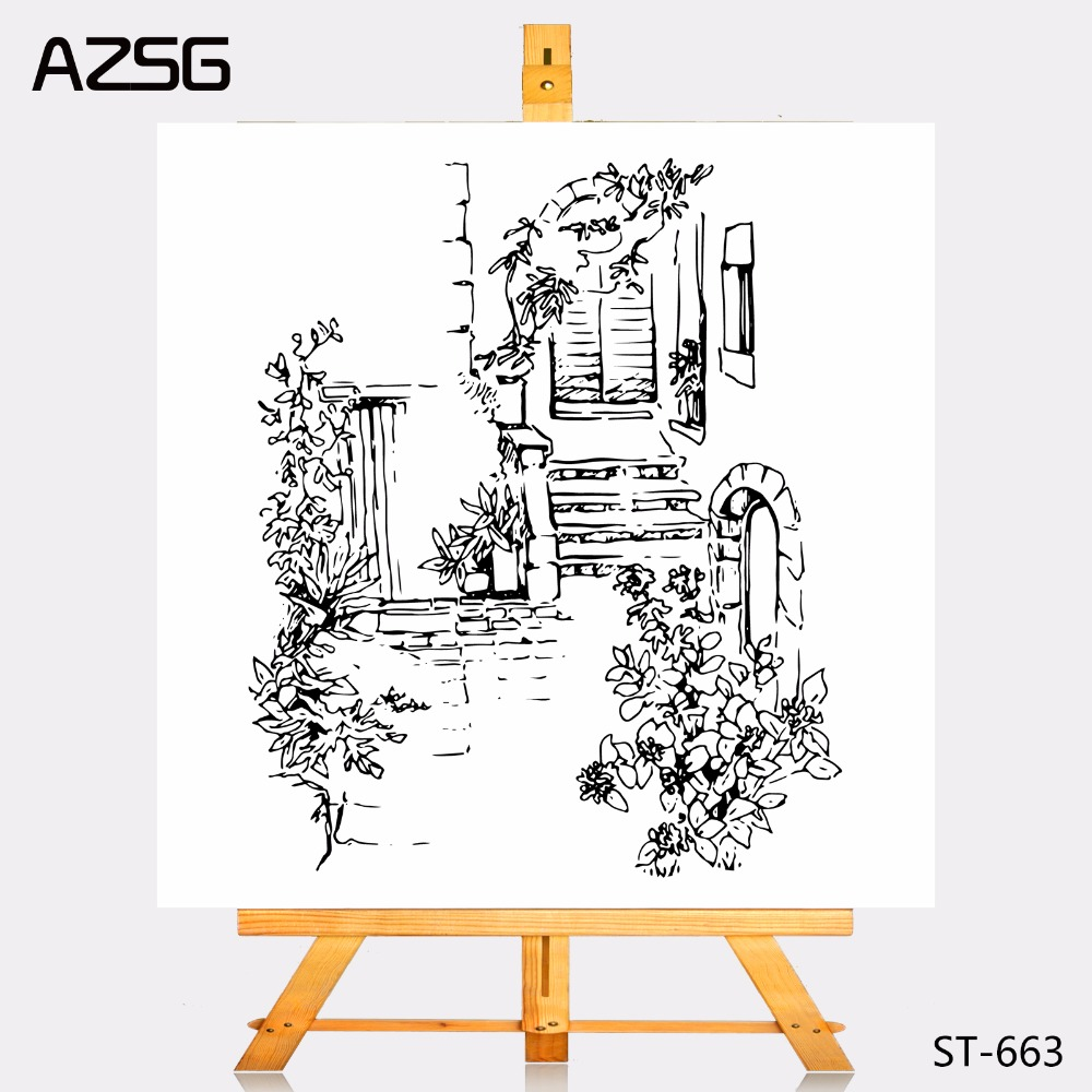 AZSG Transparent Clear Stamps patio Seal for DIY Scrapbooking Photo Album Card Making DIY Decoration Supply