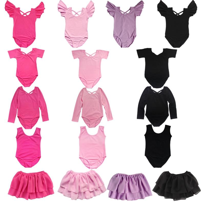 BAOHULU Toddler&Teens Ballet Dress Gymnastic Leotard For Girls Short Sleeve Dance Wear Professional Ballet Training Dress