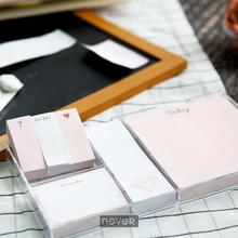 Never Rose Gold Memo Pad Set Cute Sticky Notes Notepads Set Fashion Creative Gift School Office Accessories Stationery Store