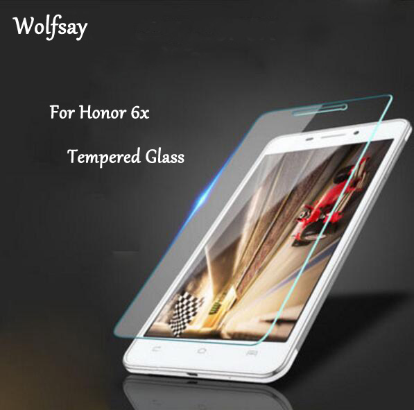 2 шт., Защитное стекло для экрана huawei Honor 6X, закаленное стекло для huawei Honor 6X, стекло huawei Honor 6X, защитная пленка Wolfsay