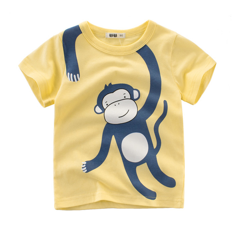 T-Shirt 3D Printed Cartoon Animals of Arctic Pictures for Little Kids Casual Tees