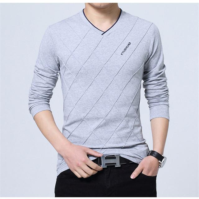 Icpans Polo Shirt Men Plus Size 3XL 4XL 5XL Slim Spring Men Polo Shirt Long Sleeve Casual Solid V Neck Polo Shirts Black 2018