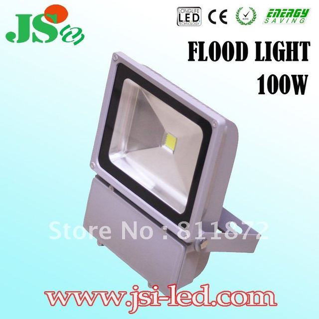 Free shipping! Hot sale 100W Outdoor LED Flood Light with CE,ROHS high lumen 7000~7800lm (W)