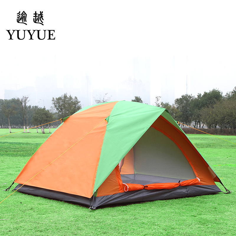 2 person UV protection camping tents for cleary day hiking tent for winter fishing double layer outdoor ultralight tent   4