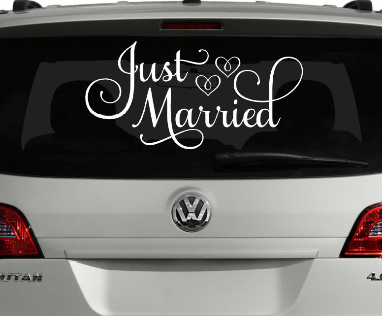 Just Married Car Decoration
